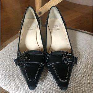 Circa Joan & David black kitten heel pump